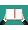 Book reading concept vector image vector image