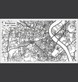 bordeaux france city map in retro style outline vector image vector image