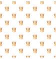 bucket with foamy water pattern vector image vector image