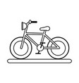 bycicle flat vector image vector image