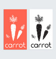 carrot logo icon tamplate carrot silhouette in vector image