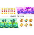 cartoon game design ui composition vector image