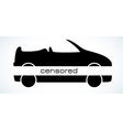 censored cabriolet silhouette vector image vector image