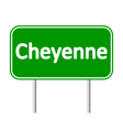 Cheyenne green road sign vector image vector image
