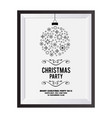 christmas invitation card with snowflakes balls vector image vector image