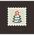 Christmas tree stamp vector image