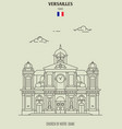 church of notre-dame in versailles vector image vector image