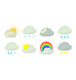 cloud icon set cartoon style vector image