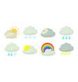 cloud icon set cartoon style vector image