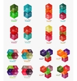 Collection of geometric paper infographic
