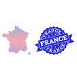 composition of gradiented dotted map of france and vector image vector image