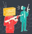 concept media propaganda weapon vector image vector image
