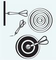 Dart on target vector image