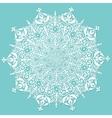 decorative white ornament vector image