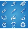 Diving sport white icons vector image