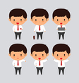 Elegant young business man set2 vector image