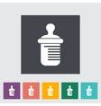 Feeding bottle flat icon vector image