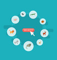 flat icons kitty wildcat reptile and other vector image vector image