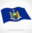 flying waving new york ny state flag vector image