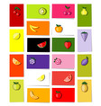 fruits cards vector image vector image
