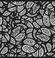 graphic monochrome black pomegranate pattern vector image vector image