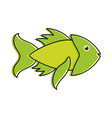 green fish sideview icon image vector image