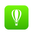 hot air ballon icon digital green vector image