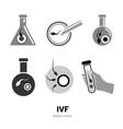 in vitro fertilisation icons vector image vector image