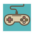 joystick isolated icon gamepad or game controller vector image