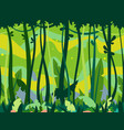 jungle forest game background vector image vector image