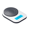 Kitchen scales isometric icon vector image vector image