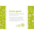 love letter template with floral background vector image vector image