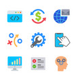 marketing and seo colored trendy icon pack 1 vector image vector image