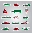 means of transport icon stickers eps10 vector image