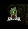 medusa mascot sport logo design vector image