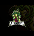 medusa mascot sport logo design vector image vector image