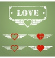Military style love emblems vector image vector image