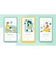 online learning concept modern flat mobile app vector image vector image