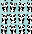 Panda Seamless pattern with funny cute animal on a vector image vector image