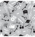 physics black and white seamless pattern eps10 vector image