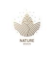 pine cone logo design vector image