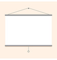 Portable projector screen vector image