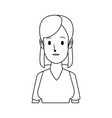 portrait woman young female cartoon people vector image vector image