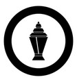 ramadan kareem lantern or fanous icon black color vector image