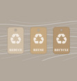 reduce reuse recycle tags vector image vector image
