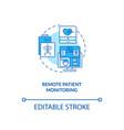 remote patient monitoring concept icon vector image vector image