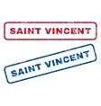 Saint Vincent Rubber Stamps vector image vector image