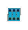 school locker vector image
