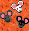 Seamless mice pattern vector image vector image