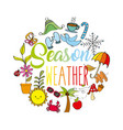 season weather spring winter summer autumn icons vector image